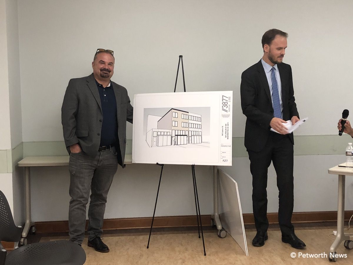 Marc Dosik and the architect for 845 Upshur St NW