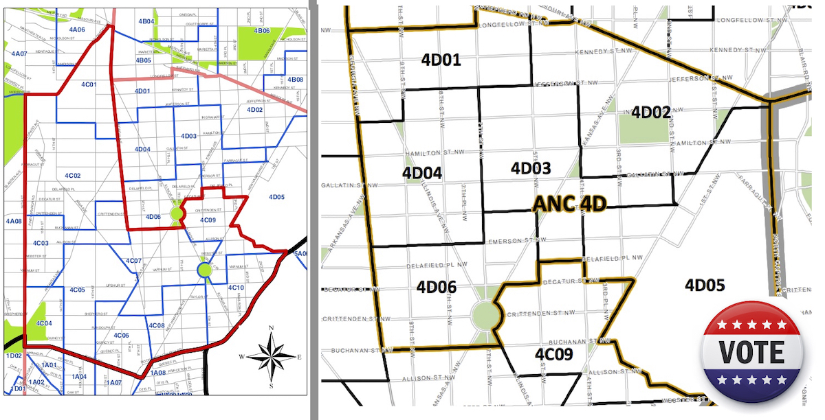 Maps for ANC 4C and 4D