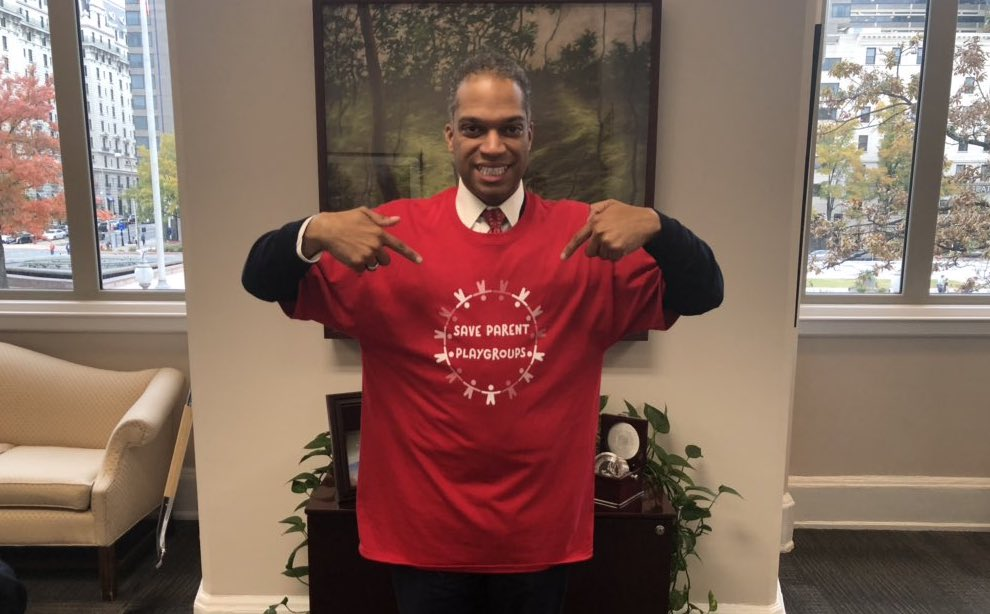 Councilmember Brandon Todd shows his support.