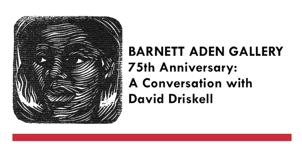 Elizabeth Catlett print from cover of Barnett Aden Gallery exhibition catalog, Paintings Sculpture and Prints of the Negro Woman December 1947-January 1948, courtesy of Black Art Project