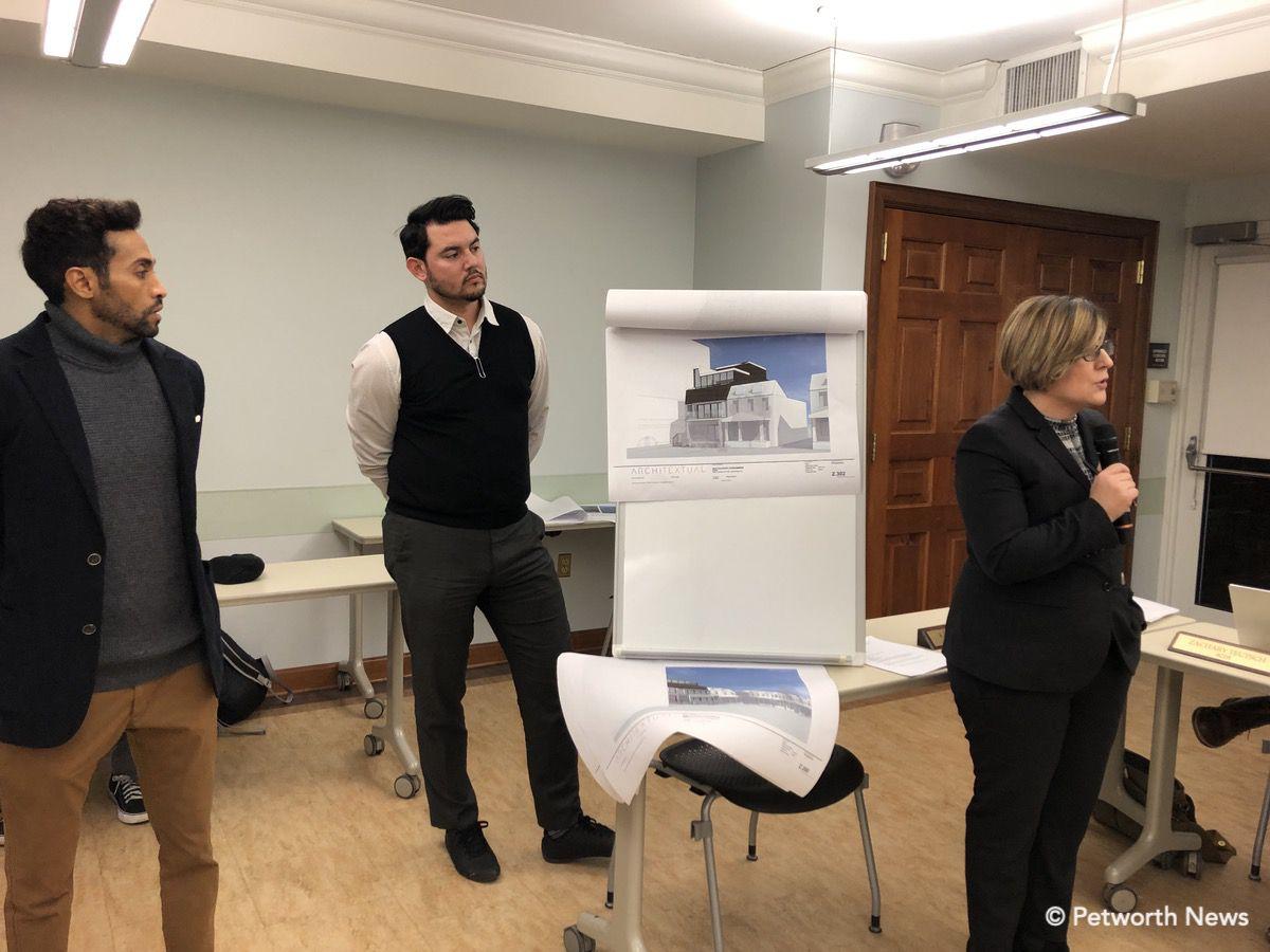 Bruno the developer, Nathan, architect, Katarina Ferrara architect, speaking.