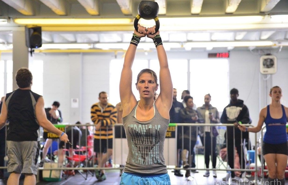 Cataneo working out at CrossFit Petworth (courtesy CrossFit Petworth)
