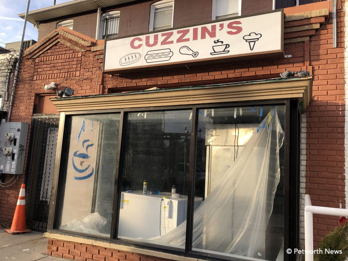 Cuzzin's carry out, a long-time staple of Upshur Street, closed last year and will get a new life as a juice bar / health food restaurant.