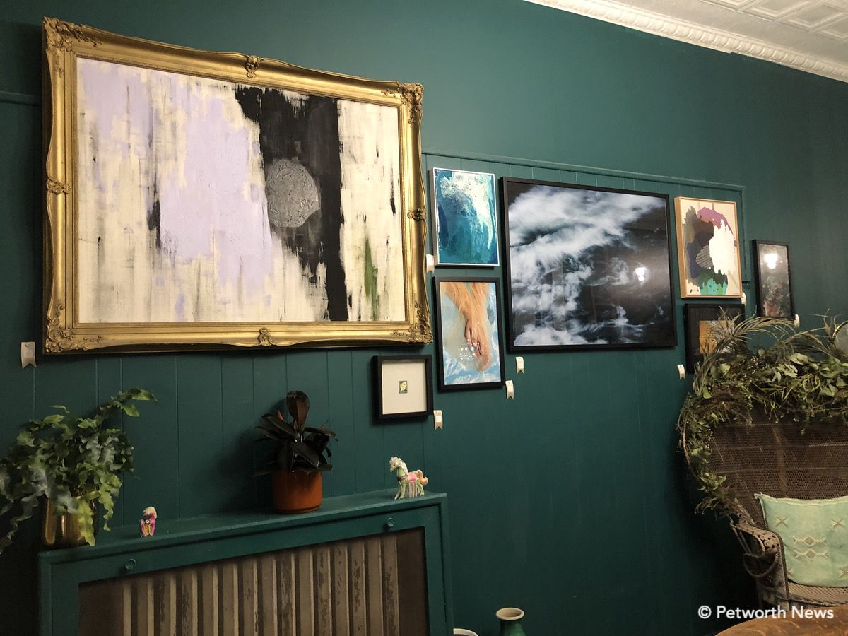 Some of the artwork available for sale.