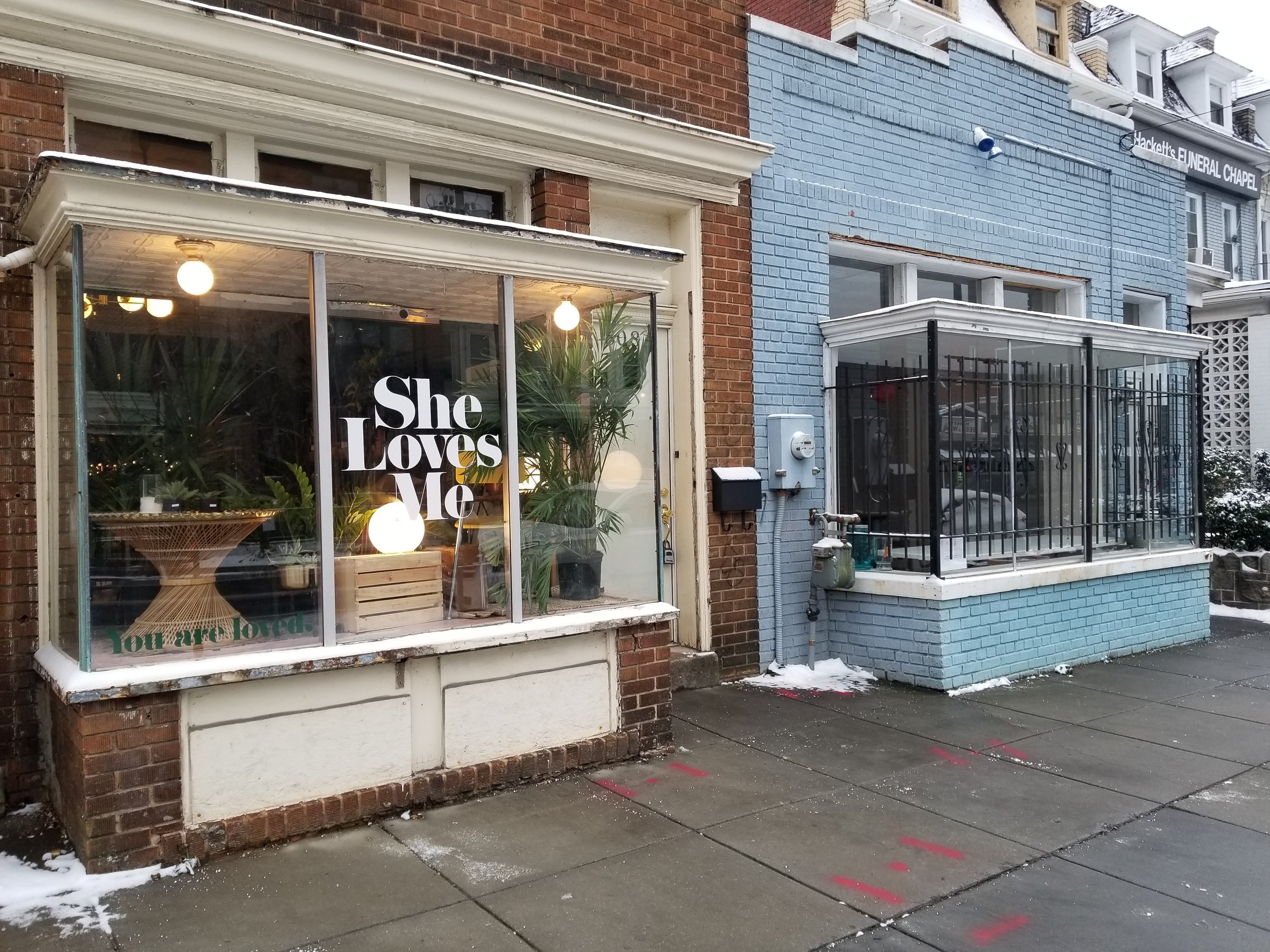 The Lemon Collective will open February 15 at 810 Upshur Street, the blue building to the right of She Loves Me.