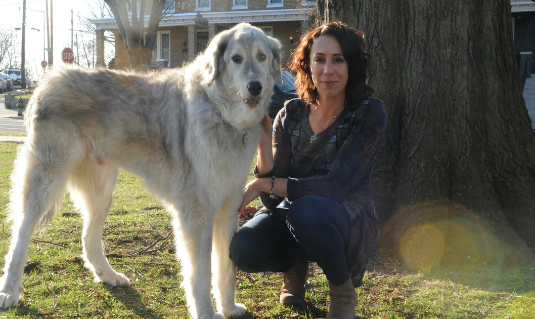 Petworth author Nina Halper and Sabra. (Photo: Linda Fittante)