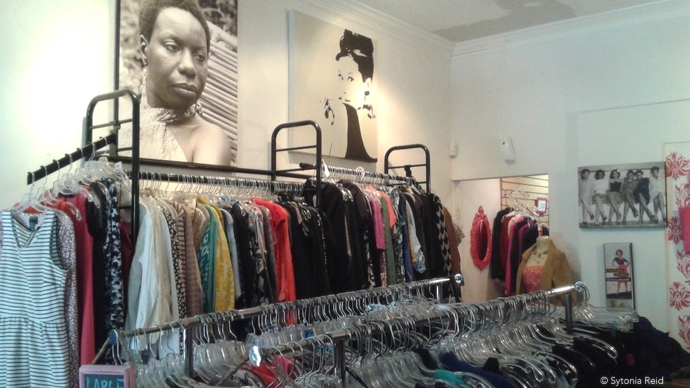 Fia's racks are filled with items for men and women.