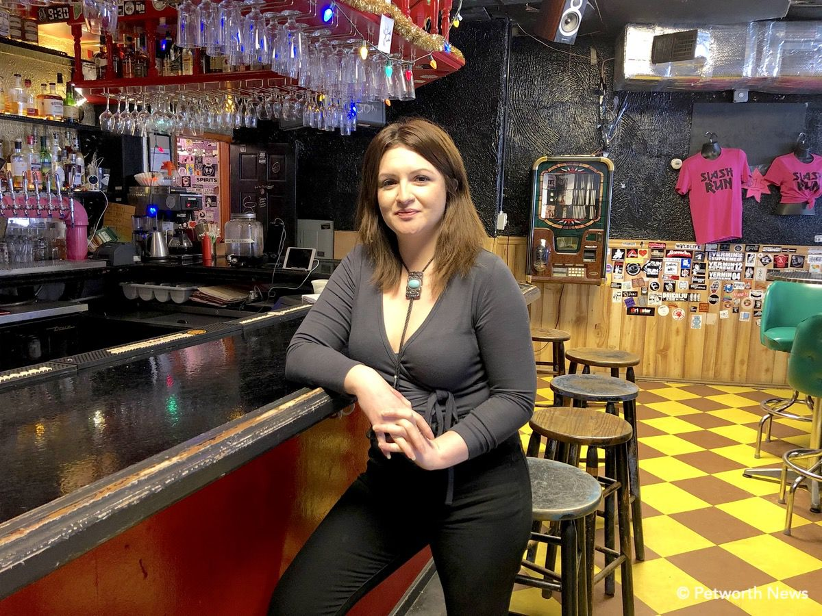 Christine Lilyea at her favorite bar, and her dream job.