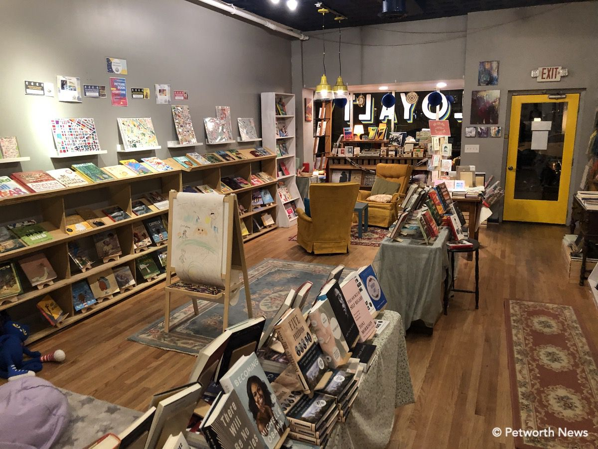 Kids books line one side of the store, while adult, contemporary, poetry and other genres line the other.