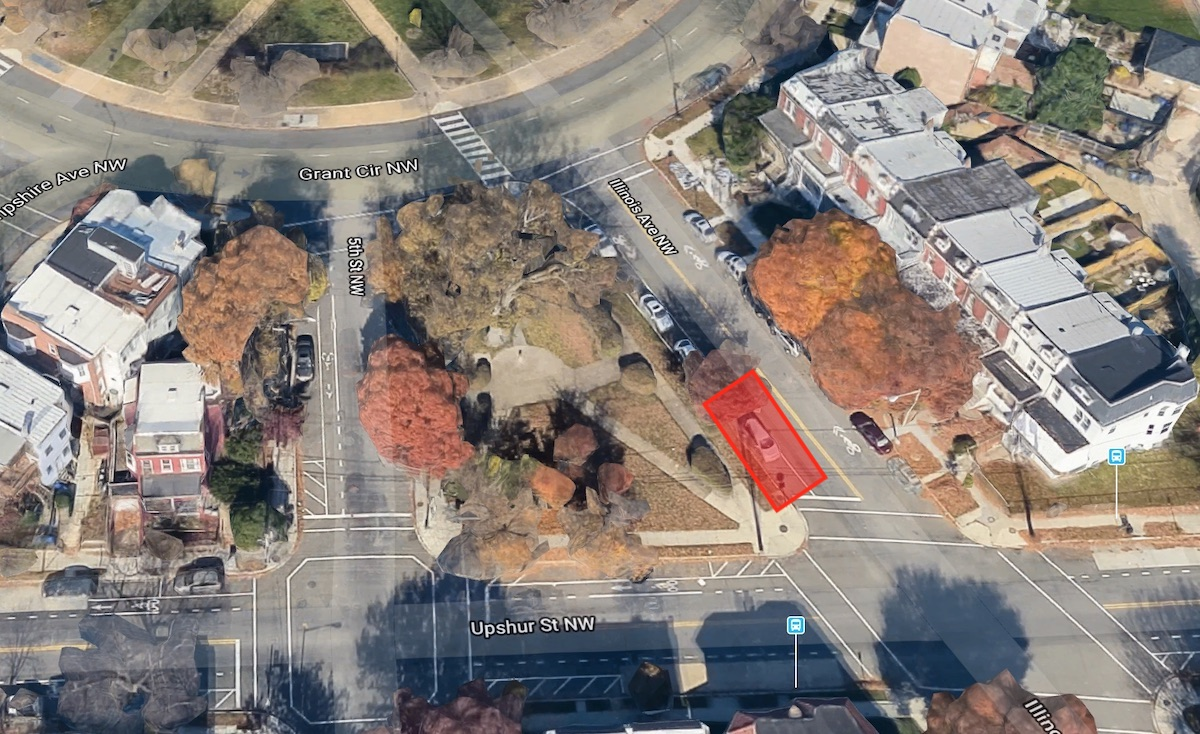 The area along Illinois Avenue DDOT is proposing the new bikeshare station
