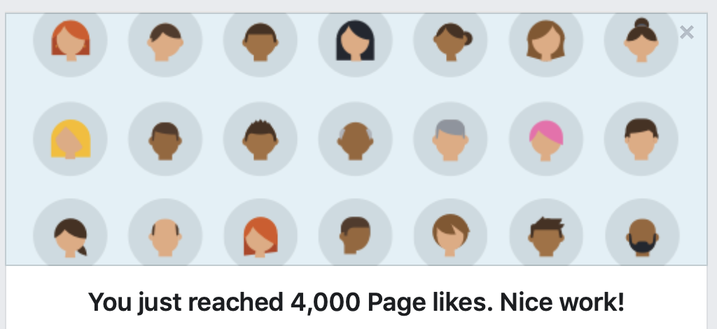 Here's how Facebook announced our 4,000th Like.