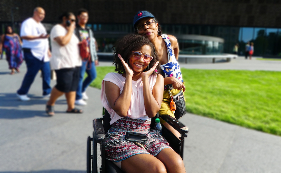 Dara and her mother at the National Museum of African American History and Culture