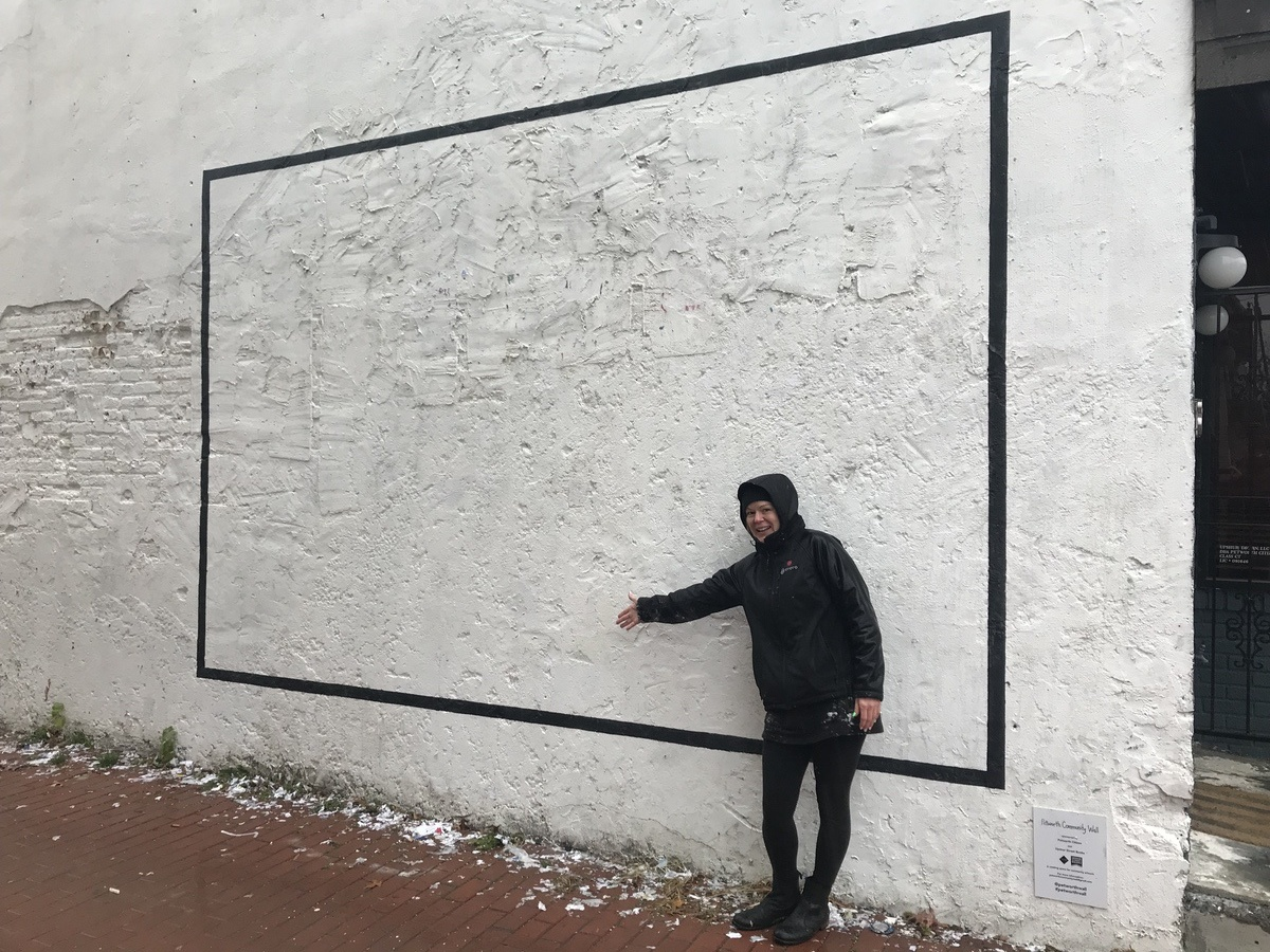 Cory and the empty canvas.