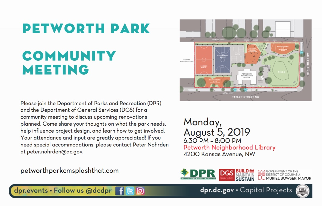 DPR's flyer on the upcoming meeting