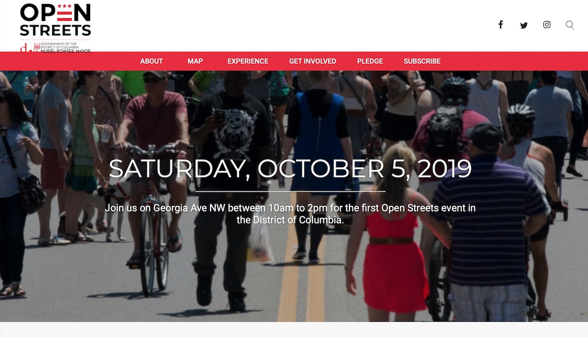 DDOT launched a website  to get the word out about the Open Streets event.