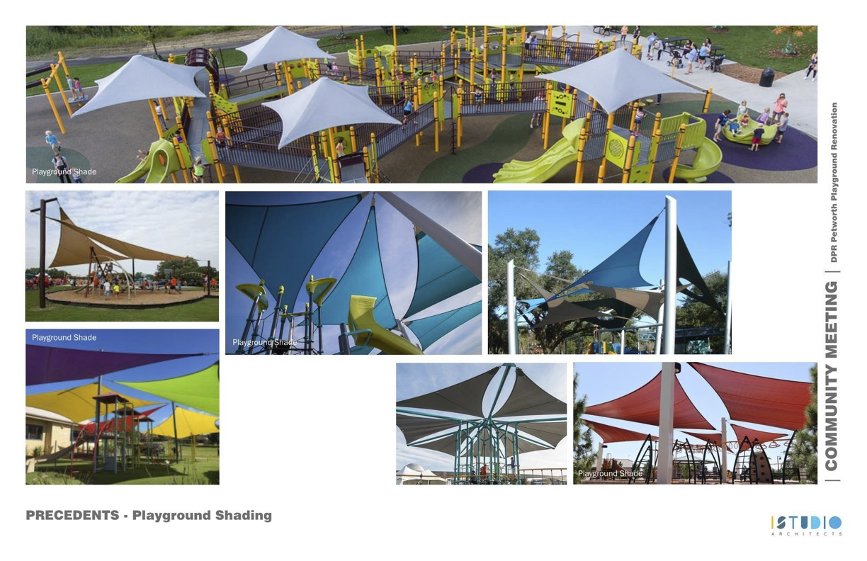 Examples of sail shade structures.