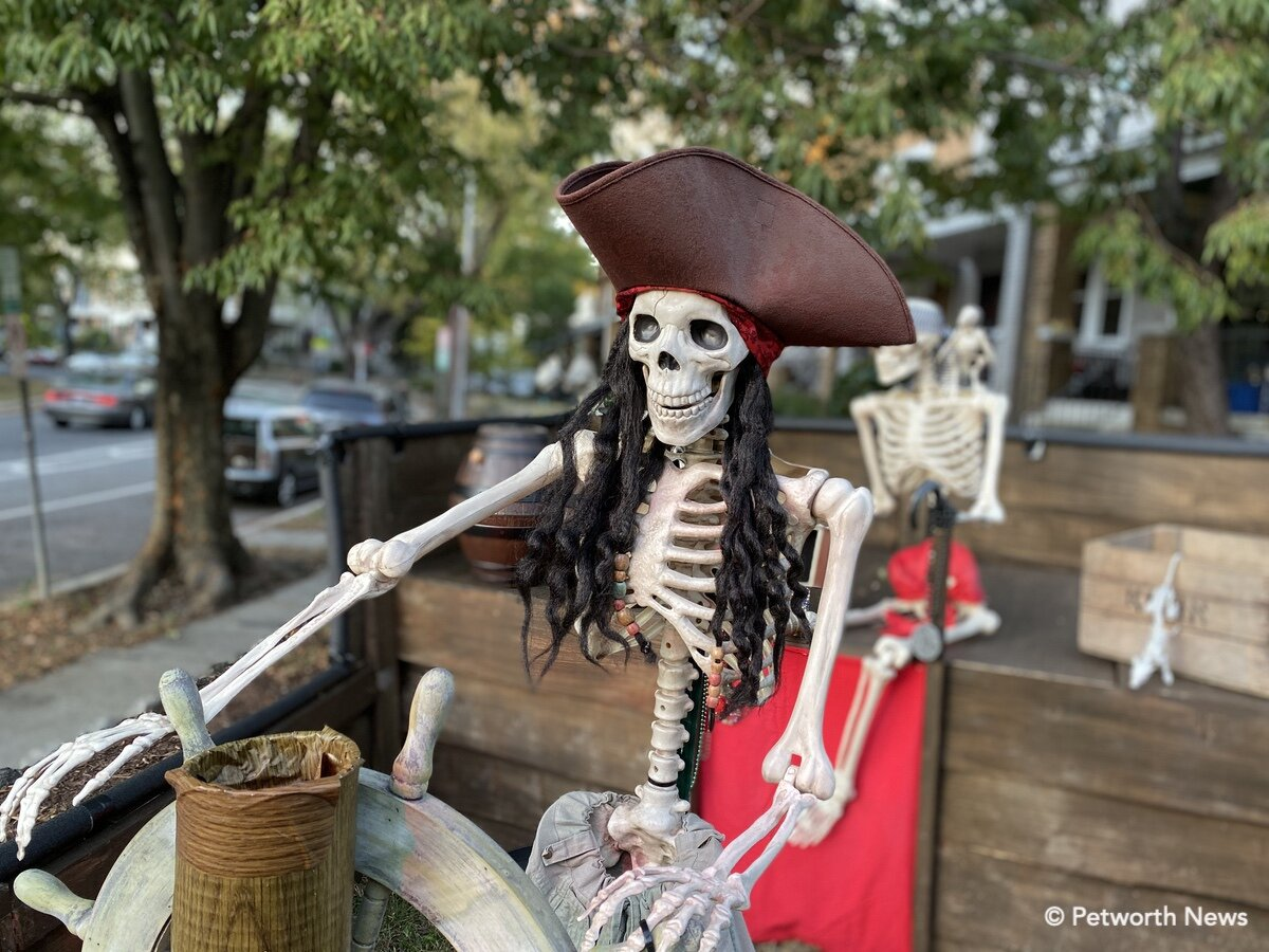 Halloween decorations at 1 Sherman Circle NW will be on display for the Halloween parade.