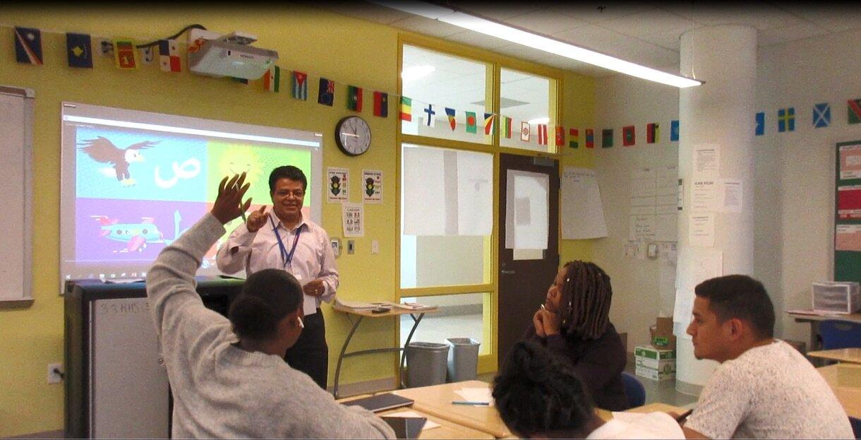 Gawargy Yasser teaching at Roosevelt High School in Petworth (photo courtesy Gawargy Yasser)
