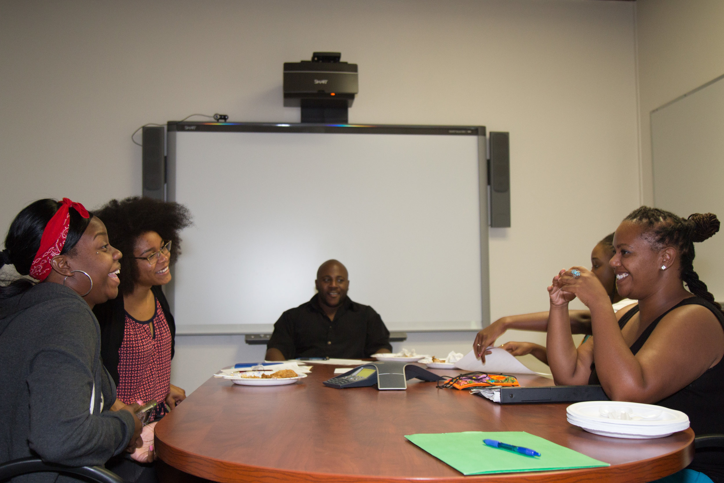 Ariba is the staff advisor for the Black Student Union at Cabrillo College. Here they are planning a campus-wide event at the beginning of the school year