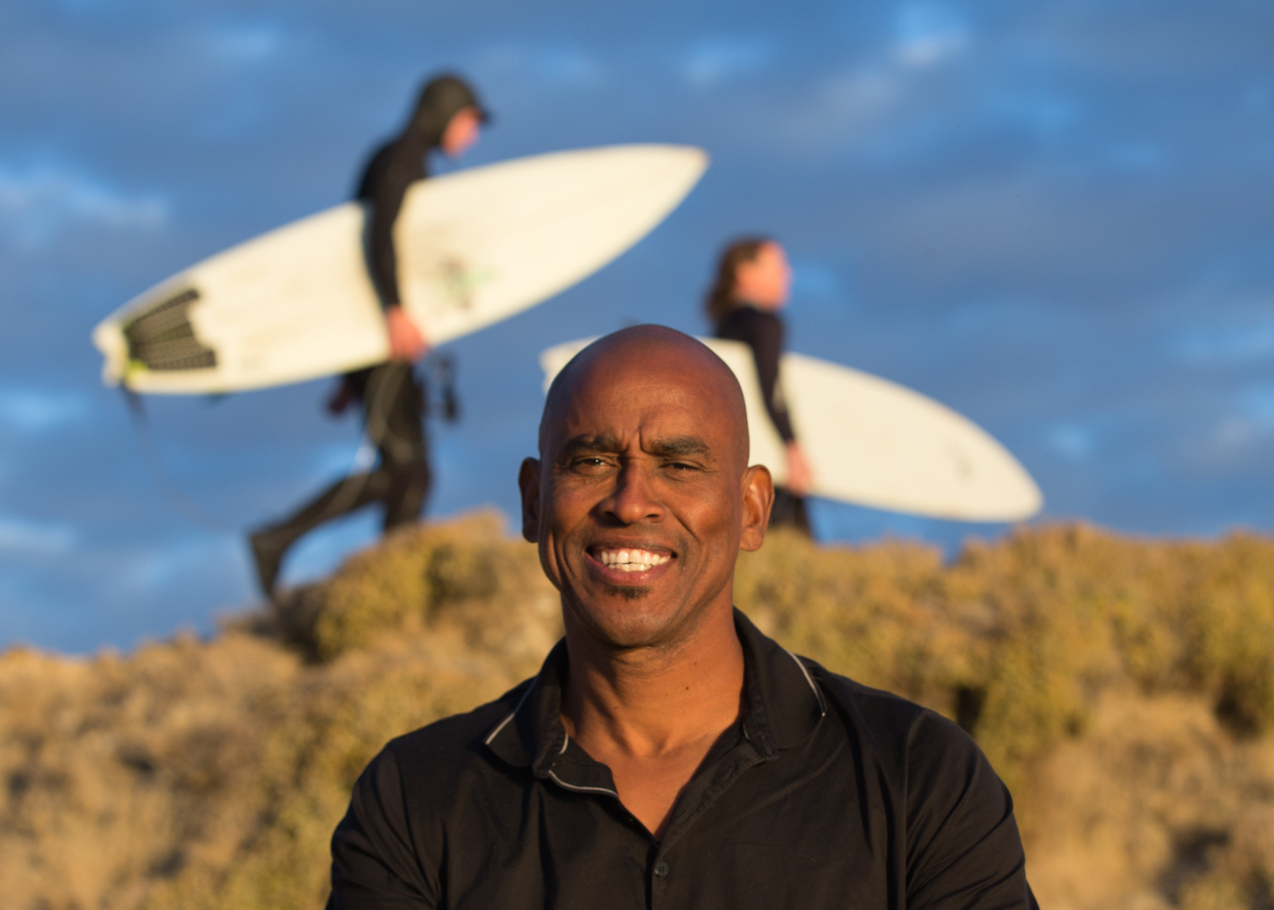 Growing up in Watsonville, Gary started surfing at the age of 14 out at Sunset and Manresa beaches. He's surfed all over the world, including Africa,Hawaii, Mexico and Central America.
