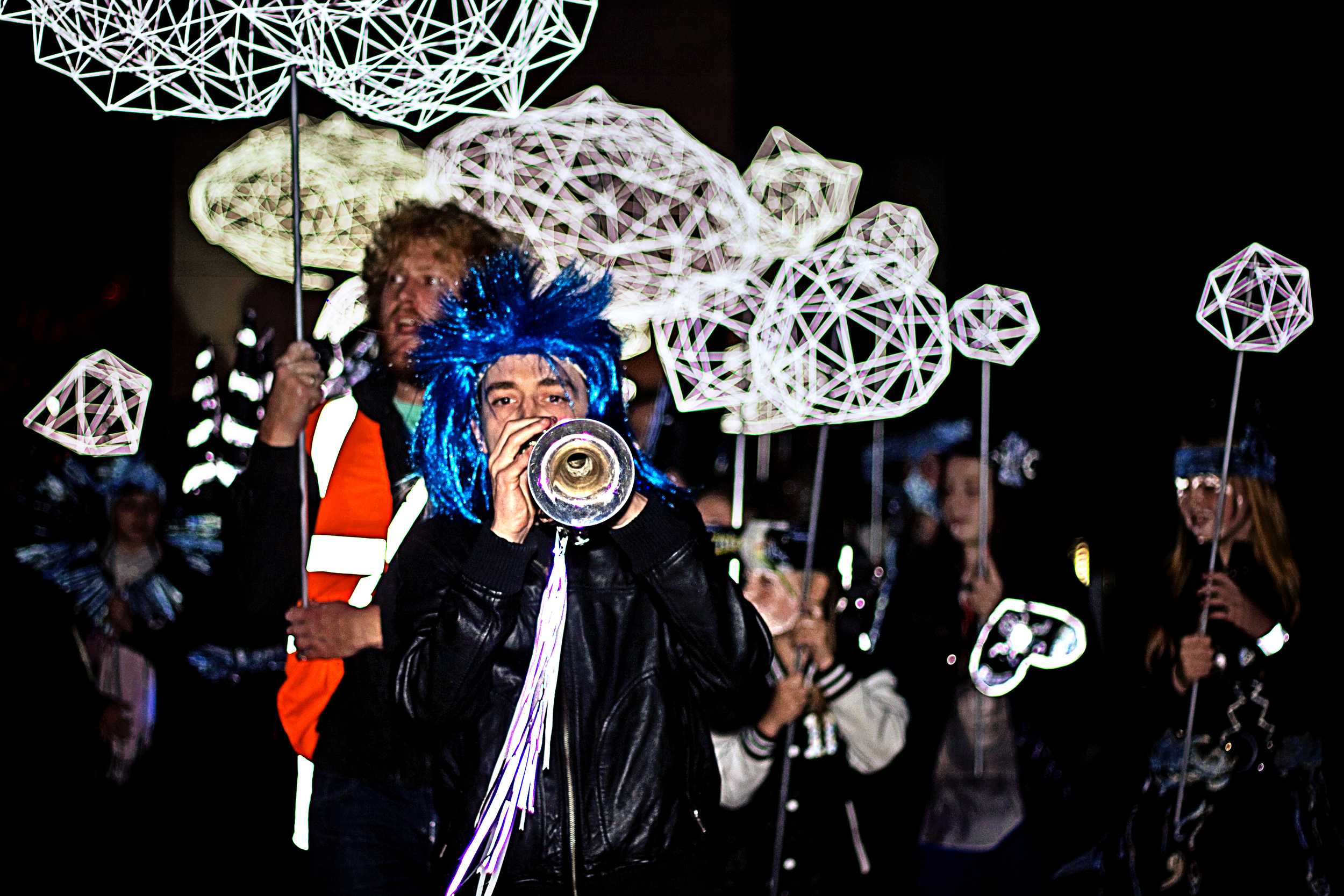 Longbridge Light Festival 2014, Lantern Parade by Ruth Claxton & Turves Green Girls School, photography by Shaun Temple