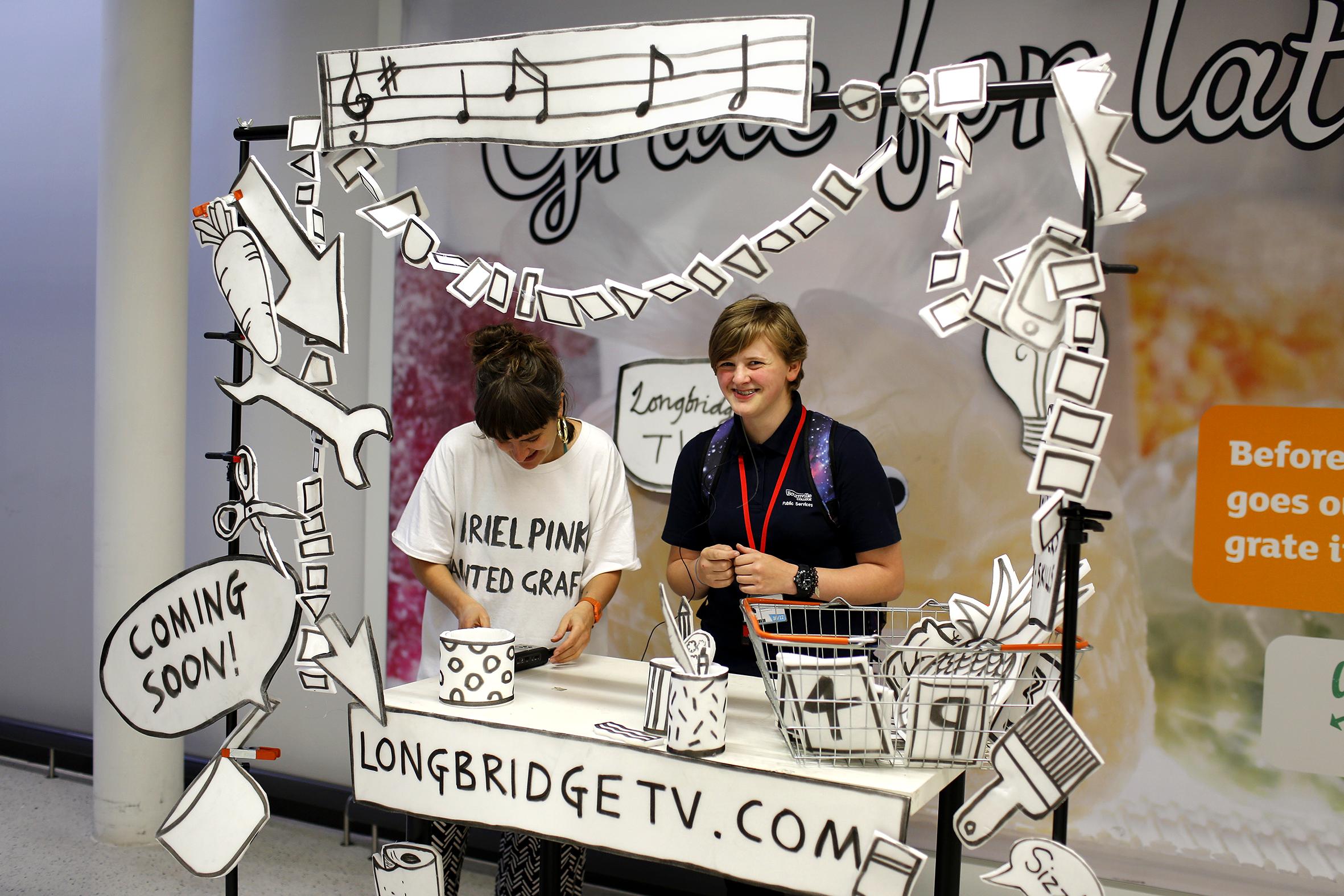 Longbridge TV workshop at Sainsbury's Longbridge