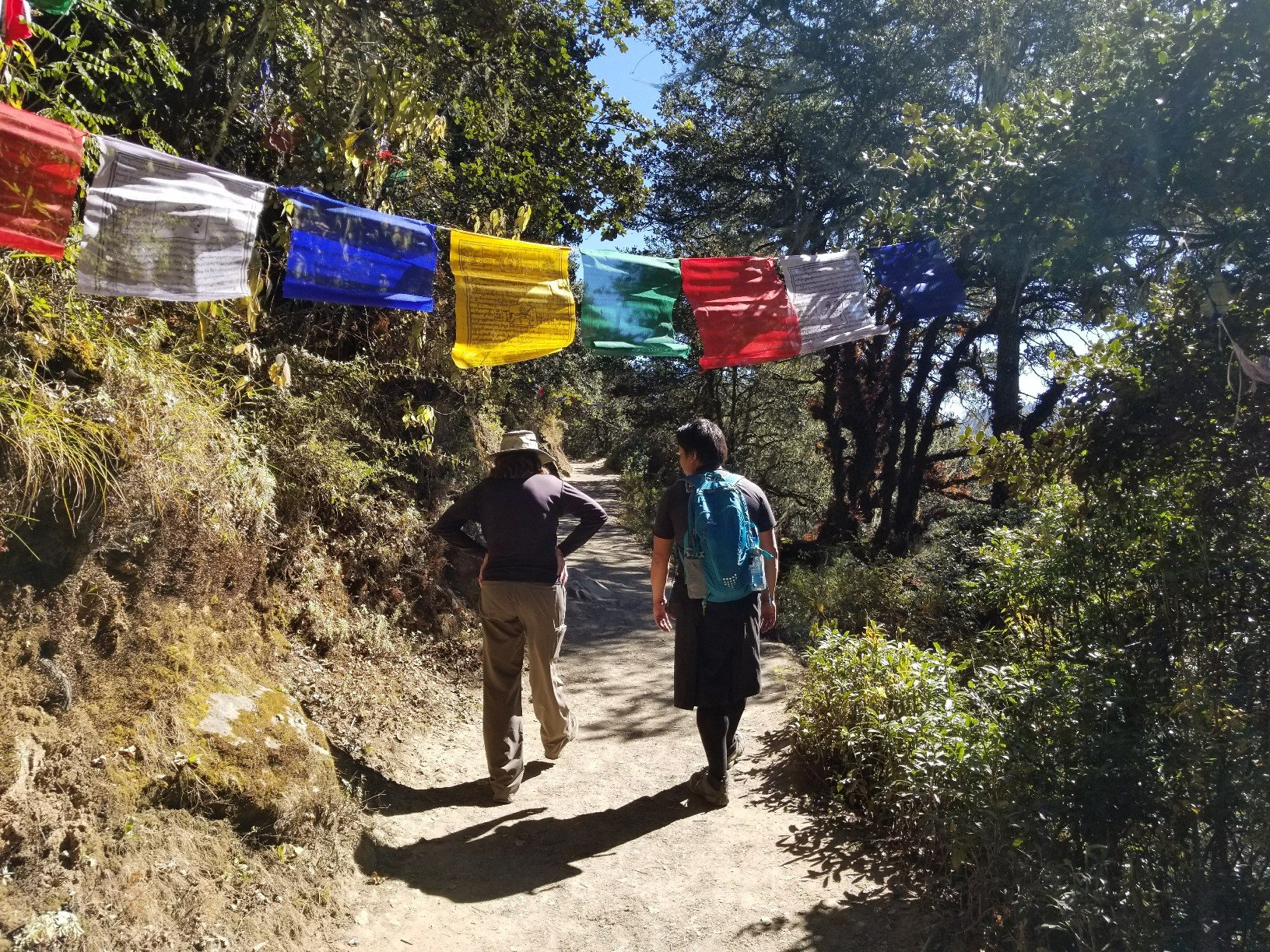 Bhutan Paro hiking flags.jpg