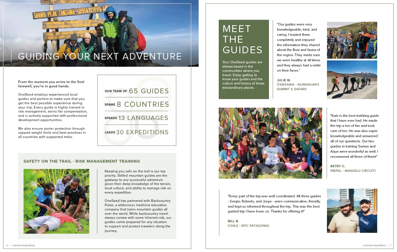 Catalog Request Form — OneSeed Expeditions