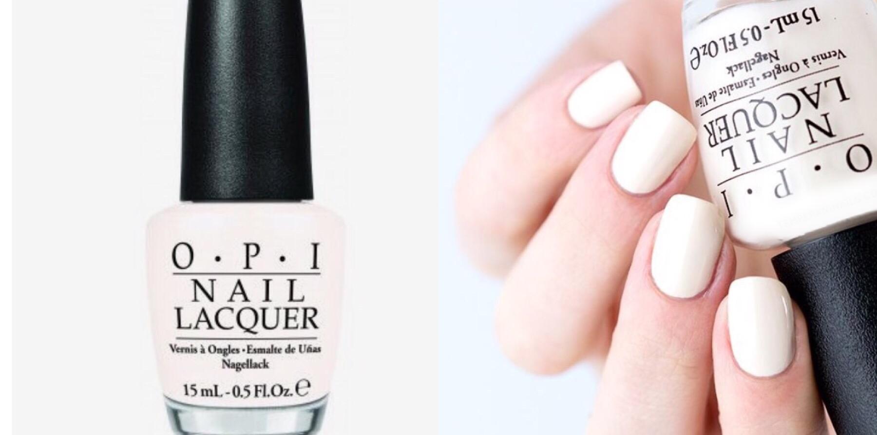 creamy white nails