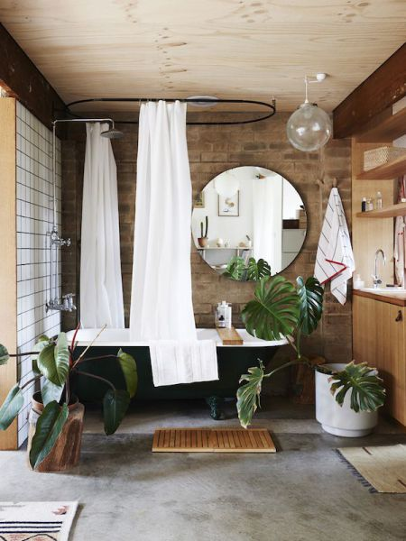 japanese-paper-wall_potted-plants_dark-clawfoot-tub_bathroom-inspiration.jpg