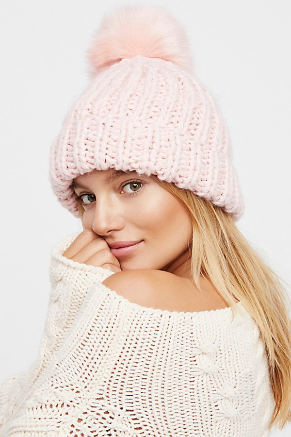 Pink Pom Hat - These adorable pom pom hats have been all the rage this fall and they make the perfect holiday gift! Super soft and cozy, you will want one for yourself too! SPLURGE at $48! / STEAL for $15!