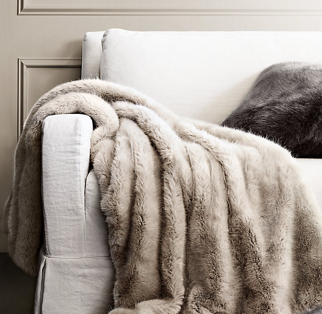 Faux Fur Throw - Who doesn't love home decor? Faux fur throws are pretty much universal, and this one is super realistic and machine washable! win-win! SPLURGE at $75! / STEAL for $29!