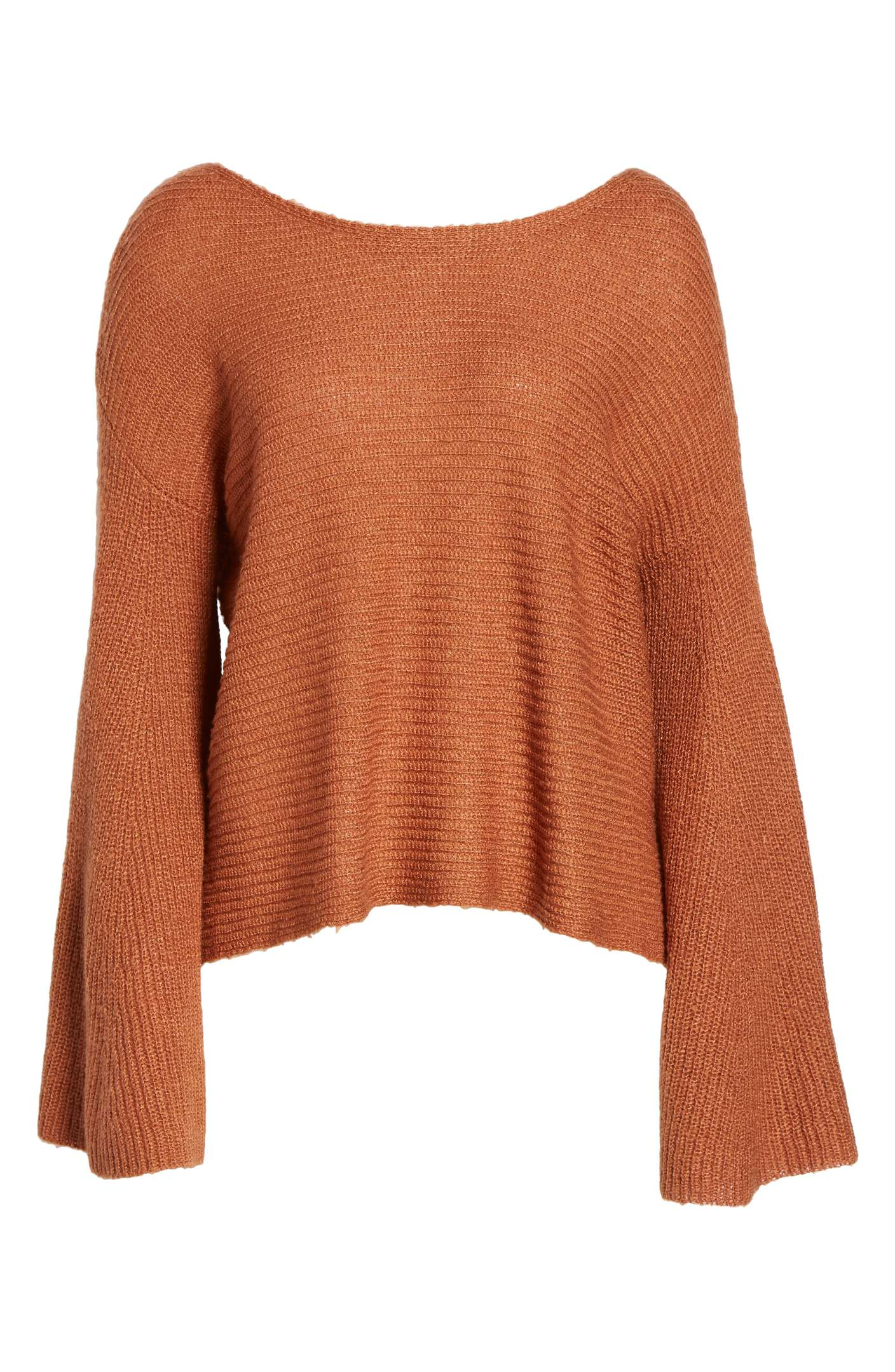 The sweater of the season - Everyone has been crushing on this season's darling, the bell sleeved terra-cotta sweater! It's universally flattering, and super budget-friendly! STEAL FOR $39!