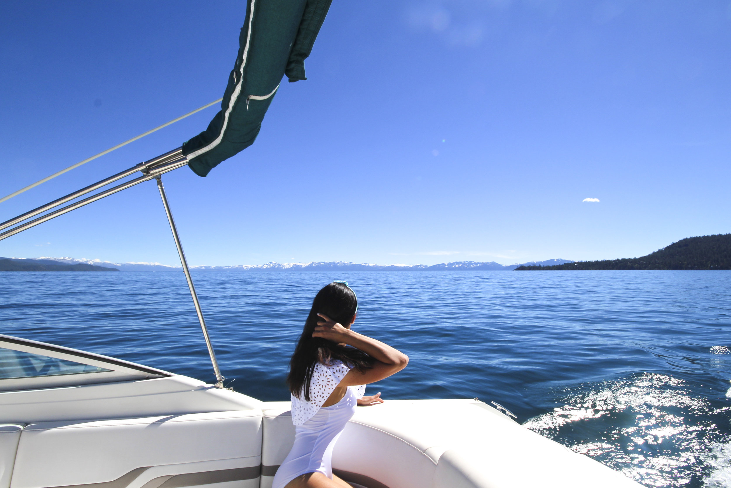 Summer boating on Lake Tahoe North
