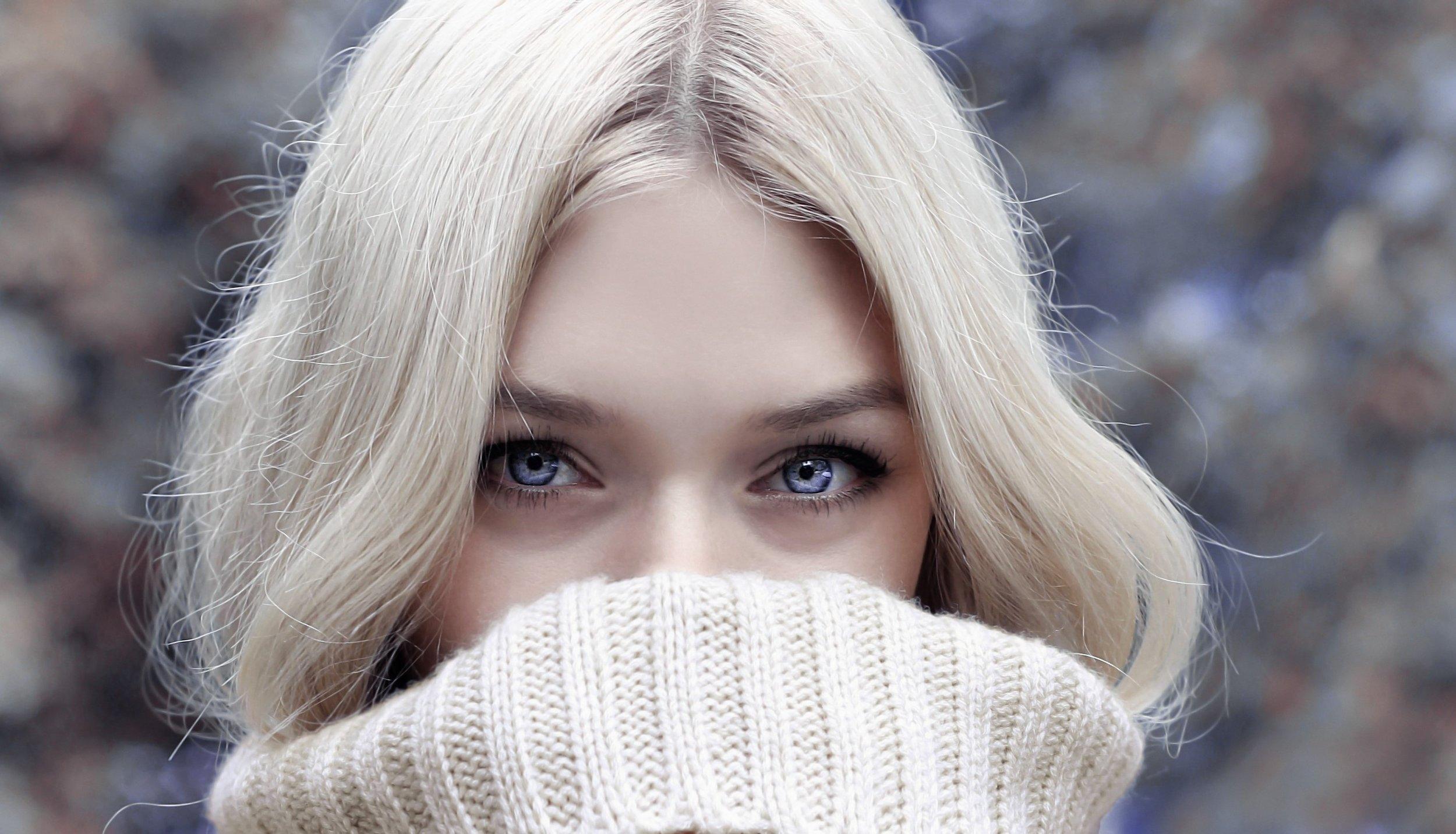 wintery blonde hair skin care