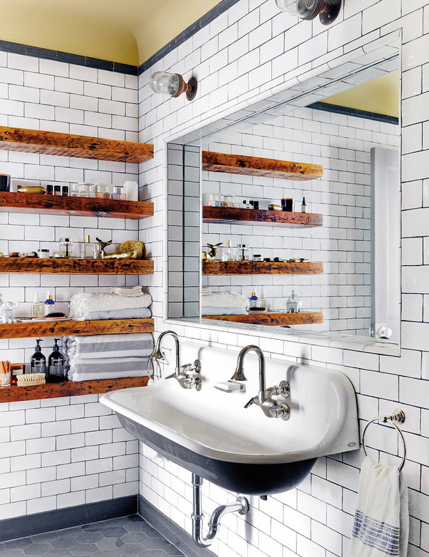 white+bathroom+trough+farm+sink+subway+tile