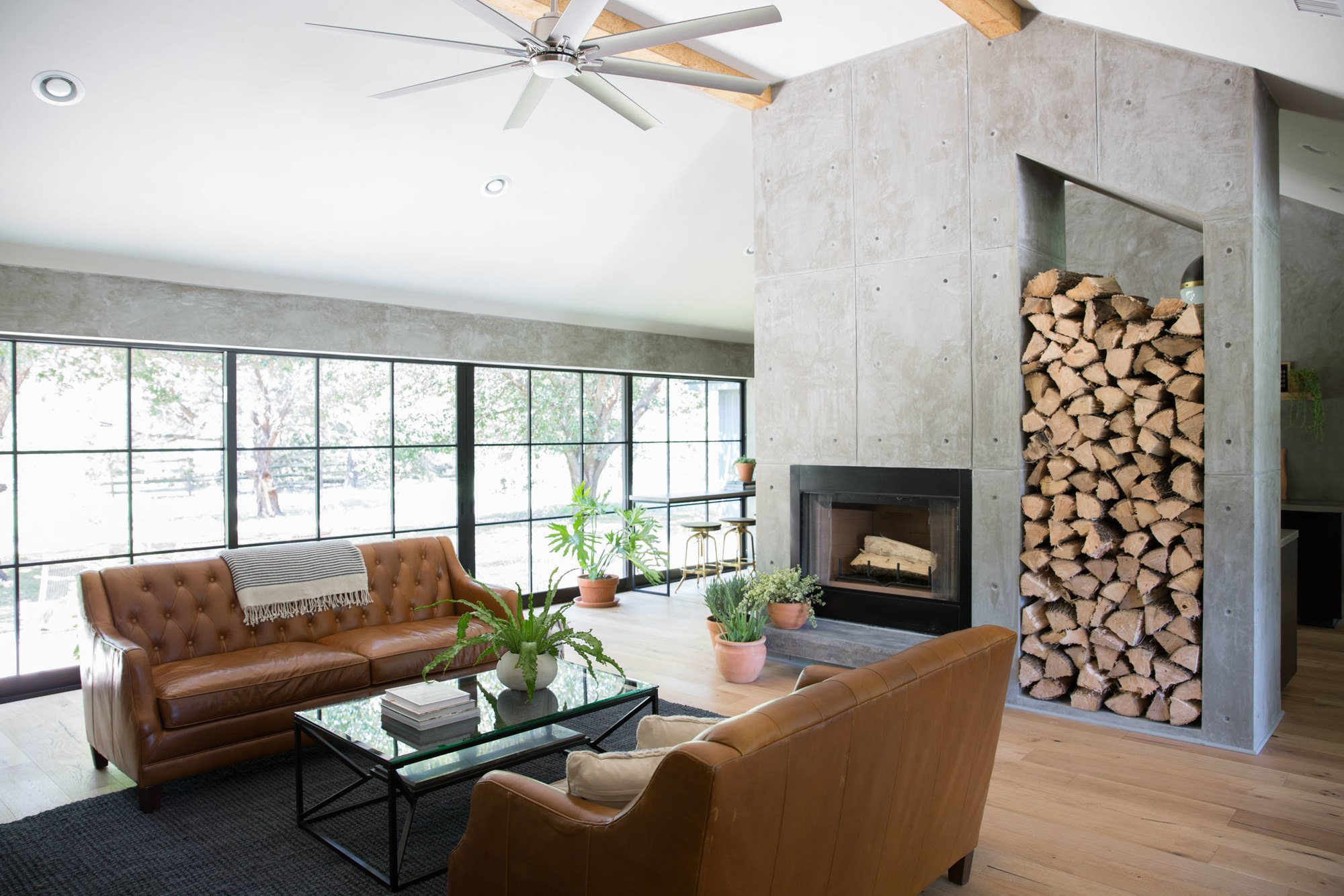 Concrete-fireplace-modern-farmhouse.