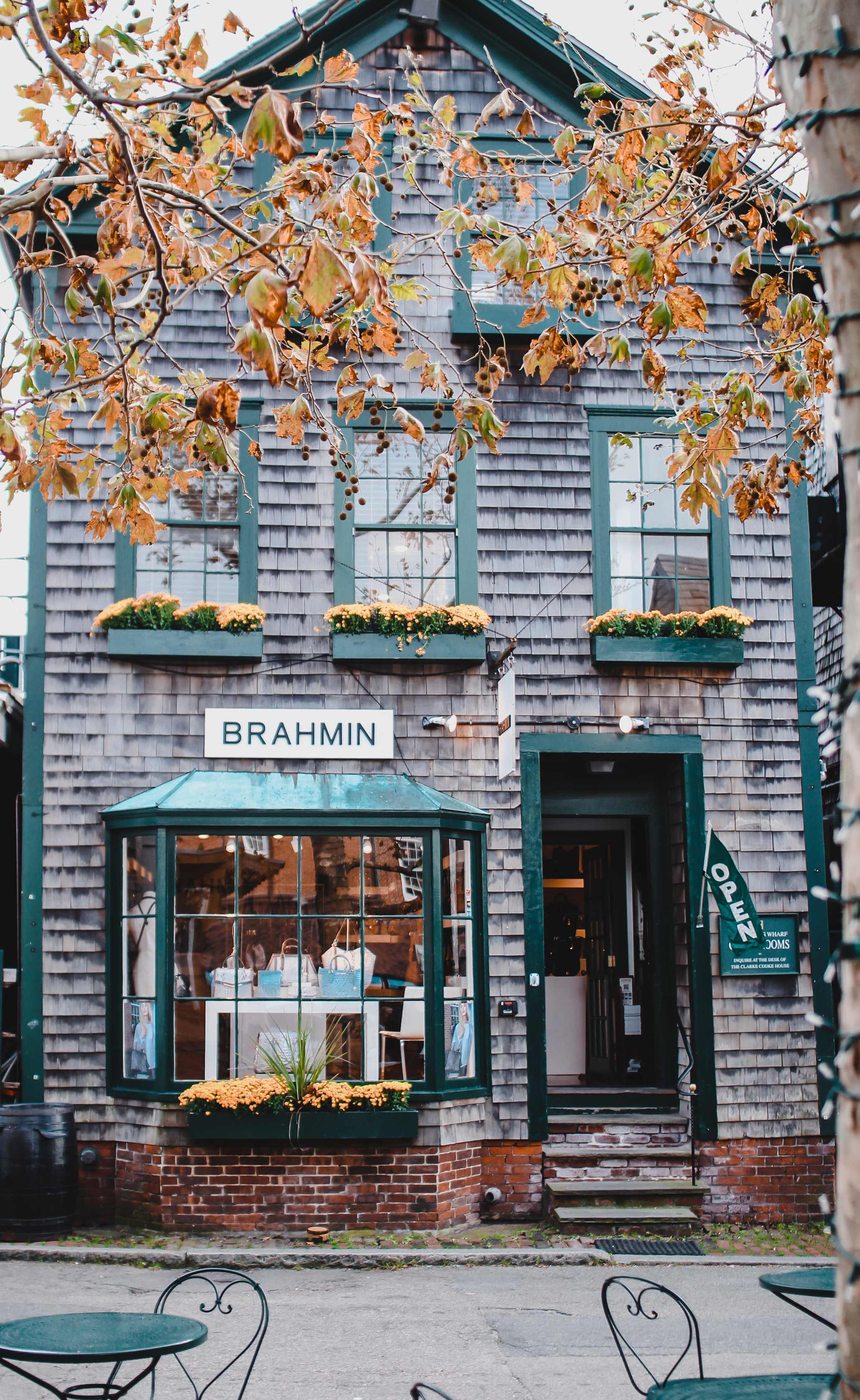 cute shingle store front new england