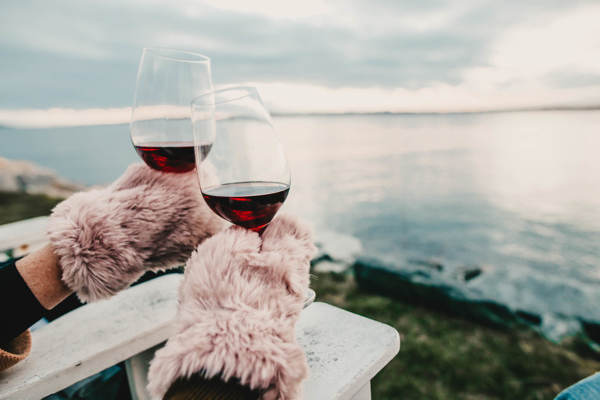 wine by the ocean