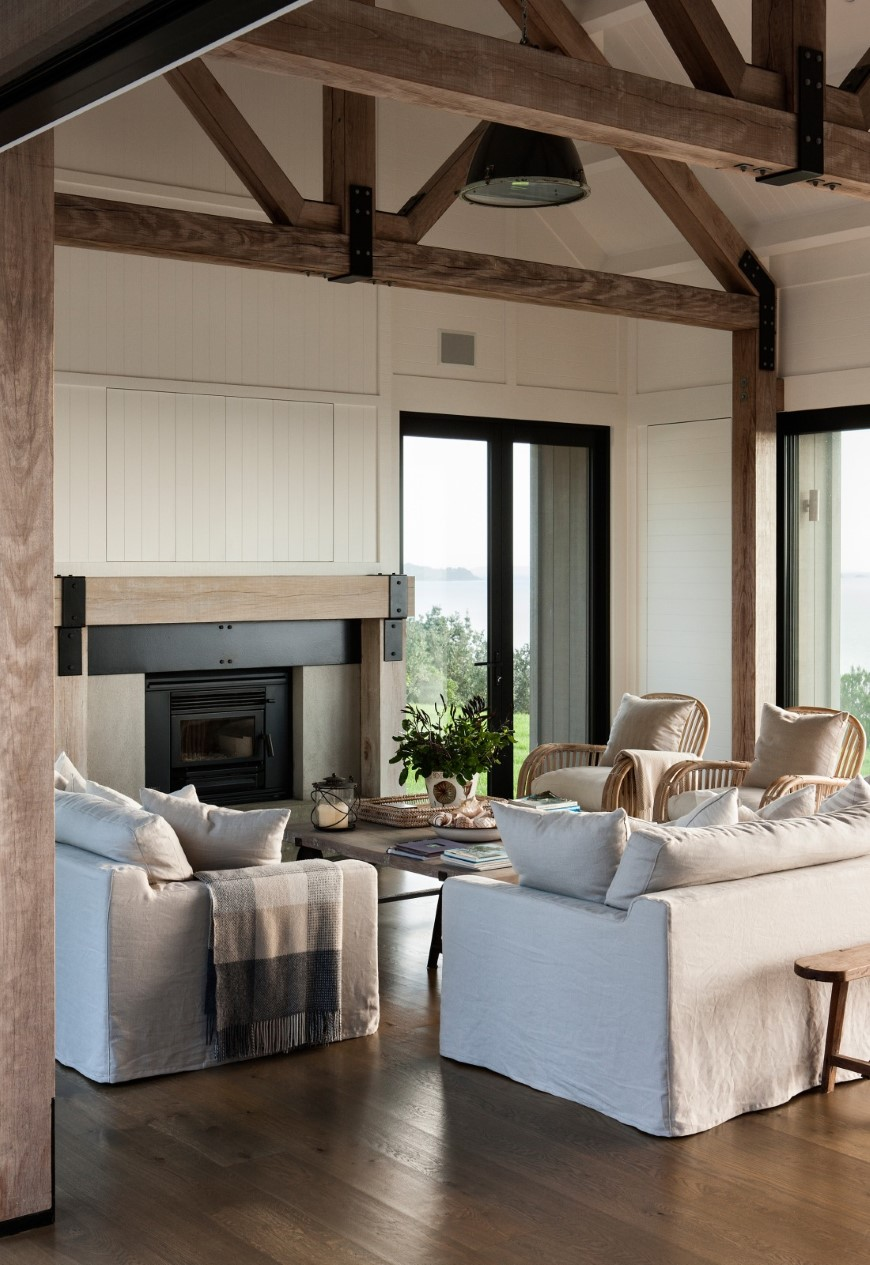 exposed-log-home-living-room