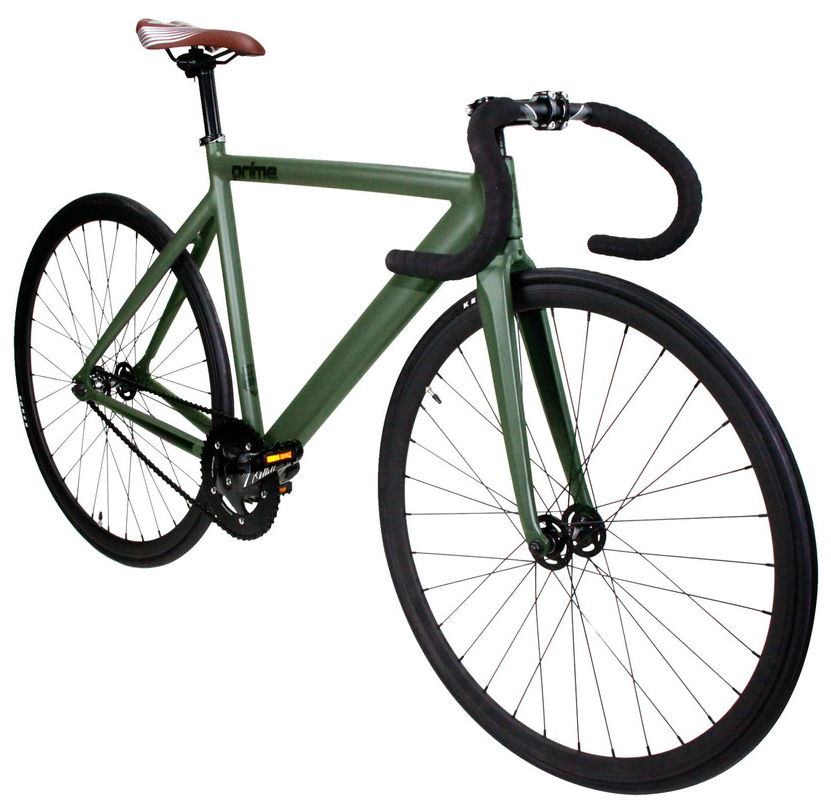ZYCLE FIX PRIME $350   Green matte frame, black wheels, drop handlebars. Available in 48cm, 52cm, 55cm, and 59cm