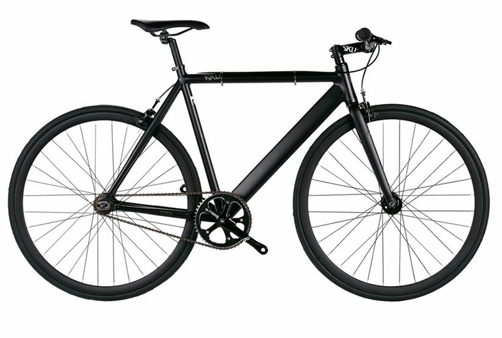 6KU Track $370  Black matte frame, black wheels, bullhorn handlebars. Available in 48cm, 52cm, 55cm, and 58cm