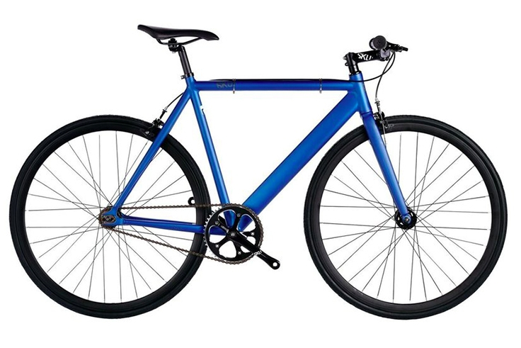 6KU Track $370  Blue matte frame, black wheels, bullhorn handlebars. Available in 48cm, 52cm, 55cm, and 58cm