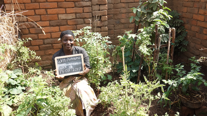 Grace Kauya from the Phalombe district in her victory garden