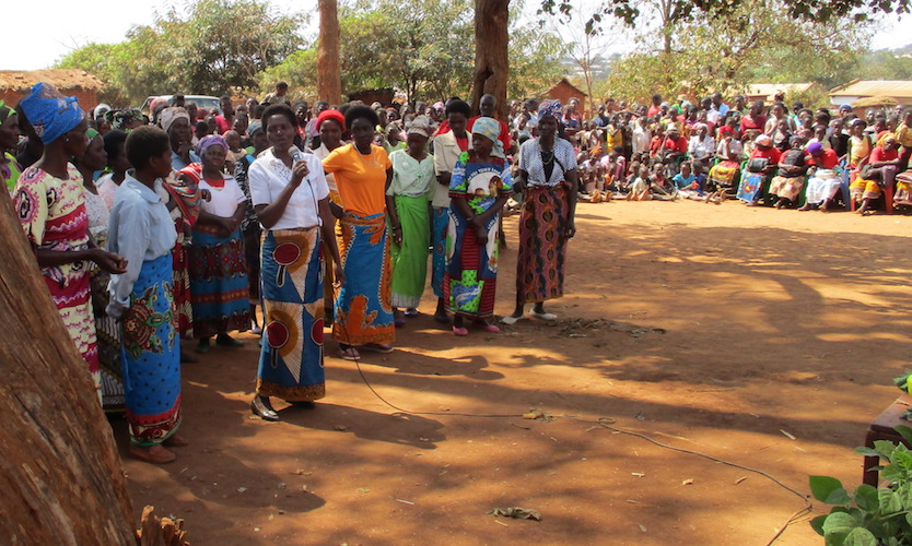 Eneres and other mothers disclosing their HIV+ status in Mwanamanga Village