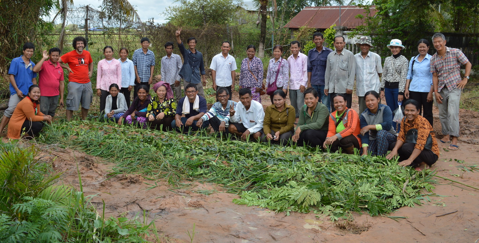 OCTOBER 2018: Trainees and Campaign workers at newly created victory garden
