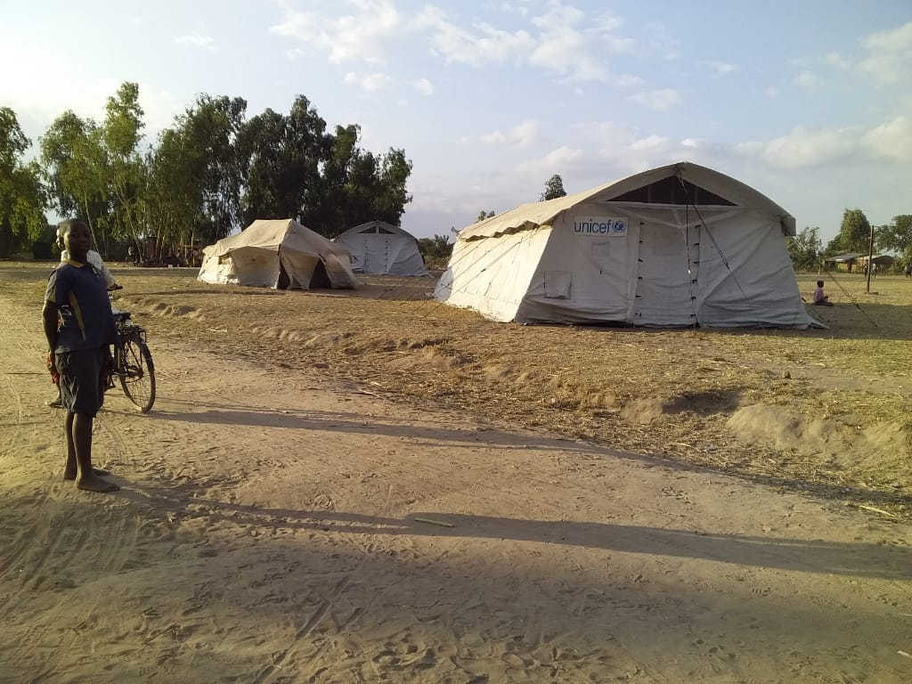 Temporary UNICEF camp in Jenala