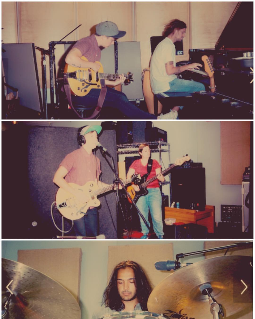Heart Harbor, Jesse Moore, Julia Rainer, & Keaton Thandi at University of the Arts music studio.