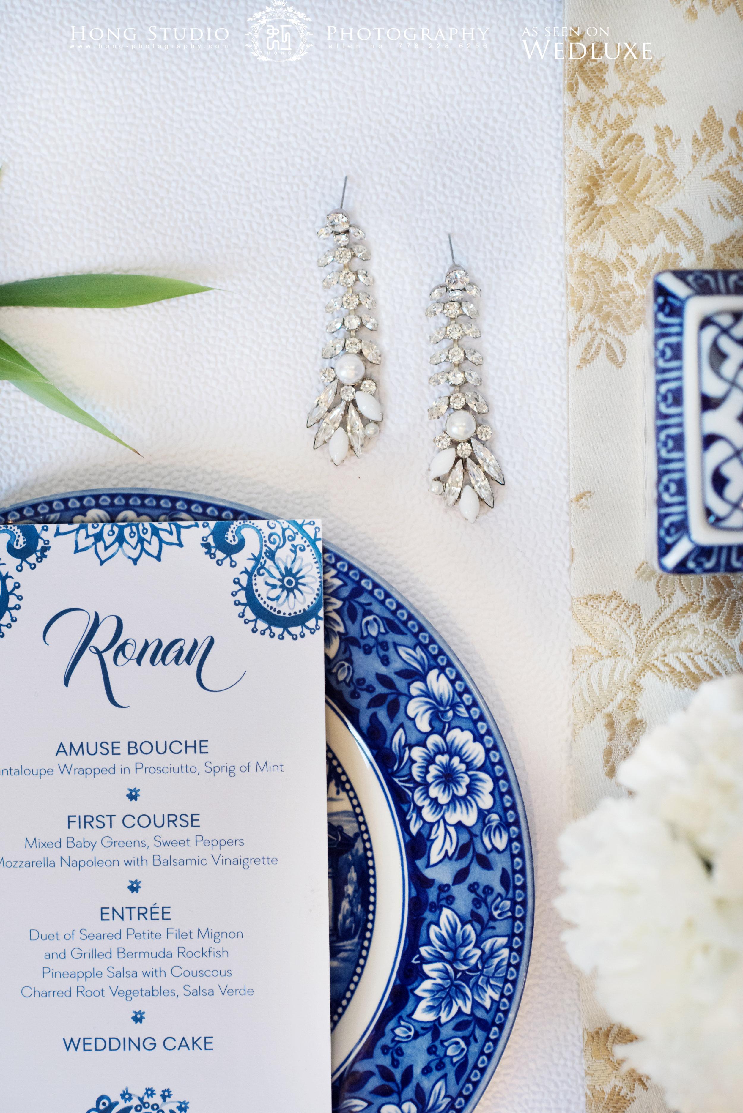 Wedluxe, Blue Wedding Inspiration