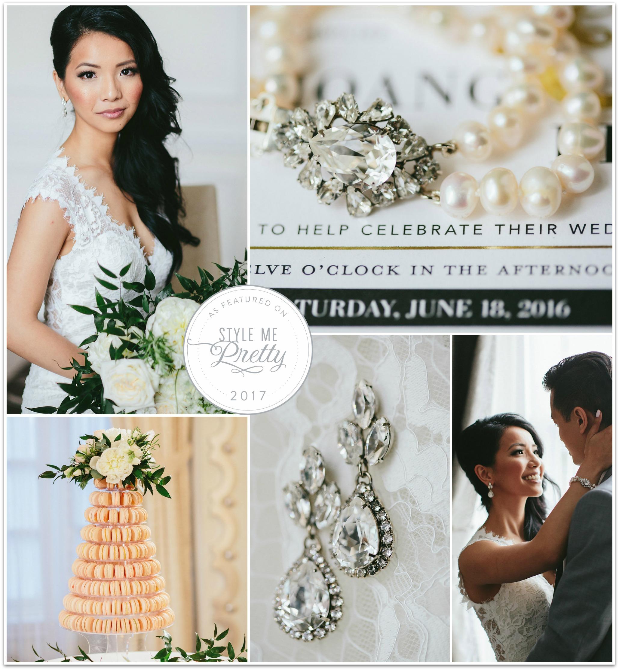 Style Me Pretty Wedding, Jewelry by Elsa Corsi
